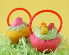 Candy-filled Easter baskets are one of the great Easter traditions, along with dying Easter eggs and holding Easter egg hunts. I am not one to complain about a Easter Egg Candy, Easter Cookies, Easter Treats, Easter Eggs, Sugar Cookies, Easter Cupcakes, Easter Bunny, Holiday Treats, Holiday Recipes