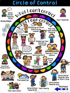 Early Elementary Counseling Tool: What are Things I Can & Can't Control