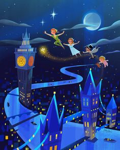 "Can't believe #D23Expo2017 is almost here! D23.com ""Peter Pan's Flight"" is one of my new pieces thats gonna be released at the expo. July 14-16th Anaheim Convention Center. Ill be doing signing 7/13 10am-2:30pm (DreamStore) 7/14 1:30-4pm (talent..."
