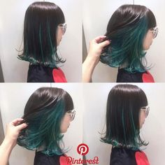 If you observe well, you can notice that we find more and more women who wear their hair illuminated by the ombre effect. Indeed, this technique is more and more trend nowadays thanks to its way of making our hair… Continue Reading → Korean Hair Color Ombre, Ombre Hair Color, Hair Color Balayage, Hair Color For Black Hair, Green Hair, Lilac Hair, Under Hair Dye, Under Hair Color, Hidden Hair Color