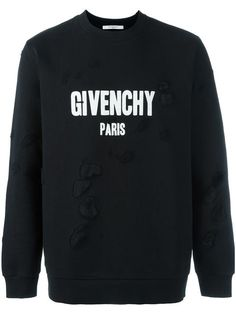GIVENCHY distressed logo sweatshirt. #givenchy #cloth #스웨트셔츠