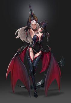 ART by Hyungseok Yang / Concept Artist Fantasy Girl, Fantasy Art Women, Fantasy Warrior, Dark Fantasy Art, Fantasy Artwork, Warrior Angel, Female Character Design, Character Art, Anime Kunst