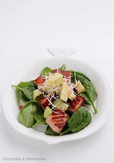 insalata di salmone e spinacini
