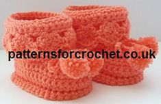 Ravelry: PFC40 Booties for Best Free Crochet Baby Pattern pattern by Patternsfor Designs