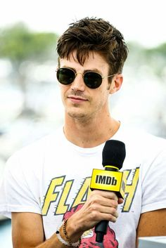 Grant Gustin attends the IMDb Yacht at San Diego Comic-Con The Flash Grant Gustin, Cw Series, Fastest Man, San Diego Comic Con, The Cw, Fan, Supergirl, His Eyes, Actors & Actresses