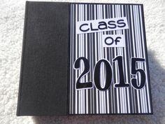 6x6 Class of 2015 Graduation Scrapbook.  Unique Graduation Gift