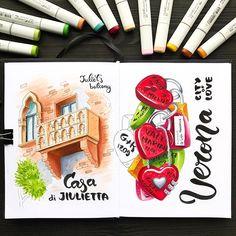 Verona, city of Love ❤️ Наверное, невозможно побывать в Вероне и не постоять под балконом Джульетты. А вот замочек на стену мы вешать не стали. Их там столько, что создаётся впечатление, будто все это красно-розовое великолепие раз в неделю срезают и отправляют на переплавку :))
