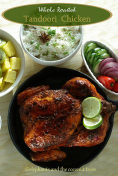 elephants and the coconut trees: Whole Roasted Tandoori Chicken - with step by step pictures