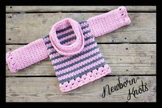 CROCHET PATTERN for Baby Sweater with Cowl Neck. by NewbornKnots, $4.50