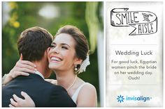 Invisalign Wedding | Smile Down The Aisle | Will you marry like an Egyptian and embrace this wedding tradition in the name of luck?
