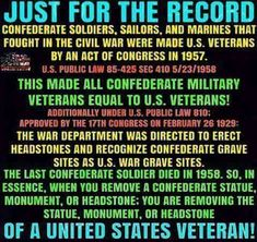 Southern Heritage, Southern Pride, Military Veterans, Reality Check, History Books, Marines, Equality, Acting, Public