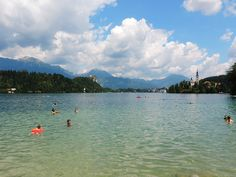 Lake Bled, Slovenia. Slovenia has only one national park, Triglav. But that's a real treasure! A mountain paradise with snowcapped peaks and magically green lakes, creeks and waterfalls. Its most easily accessible areas are around Lake Bled and Lake Bohinj, two big, famous and pretty lakes.