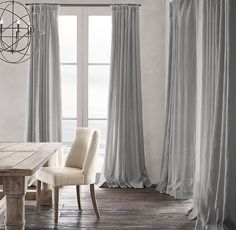 RH's Belgian Heavyweight Textured Linen Drapery:Richly textured and substantial in weight, our linen is masterfully crafted from the world's finest Belgian flax. The fabric is loomed at Libeco-Lagae, the oldest and most venerable mill in Belgium.                                                                                                                                                     More