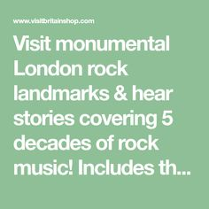 Visit monumental London rock landmarks & hear stories covering 5 decades of rock music! Includes the iconic Abbey Road - buy online from VisitBritain.