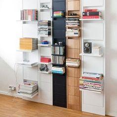 Раскладные полки, полочки, оформление стены, книги