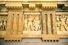 Metopen des Tempels C (heute in Palermo)