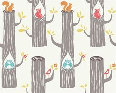 Birch Fabrics Woodland Friends