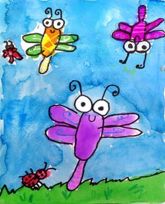 Super Simple Bug Painting. Great for very young artists. #bugpainting
