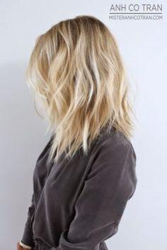 Stylish blonde lobs haircut ideas 8