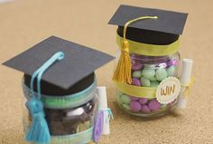 Dulce graduación: detalle de felicitación