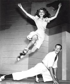 astaire & hayworth. i know he's more famously remembered for working with ginger rogers but my favorite was when they danced together. why wasn't i born in their generation. and able to dance like them, too.