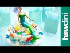 use a fruit roll up instead of fondant for the mermaid body.