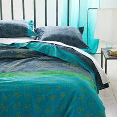 Housse de couette satin de coton Kiani Charcoal 140x200
