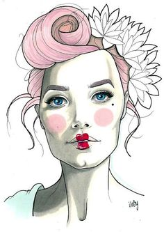 By Anna Ritar/hair ideas for drawing. :)