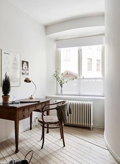 scandinavian home with vintage furniture