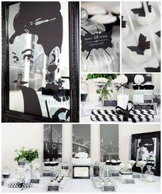 Black and White Birthday Audrey Hepburn Birthday