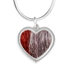 Red Silver Heart Necklace http://www.cafepress.com/+christmas_party_garlands_silver_heart_necklace,1443420367