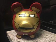 I Shop, My Etsy Shop, Ultimate Marvel, Iron Man, Pottery, Hand Painted, Coupon Codes, Superhero, Piggy Banks