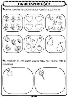 VÁRIAS PÁGINAS DE ATIVIDADES!!! Atividades de matemática para Educação Infantil - Atividades Pedagogicas
