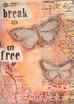 Nika In Wonderland Art Journaling Tutorials: ART JOURNAL PAGE | BREAK FREE |
