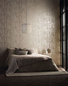 Harlequin Wallpaper Cobra - Silver Grey Luxurious Textured-Wallpaper by Harlequin Anthology 03 Harlequin Wallpaper, Wall Wallpaper, Wallpaper Online, Flock Wallpaper, Interior Wallpaper, Grey Wallpaper Uk, Silver Wallpaper Metallic, Bedroom Feature Wallpaper, Wallpaper For Living Room