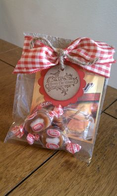 Apple cider and Carmel candies treat bag
