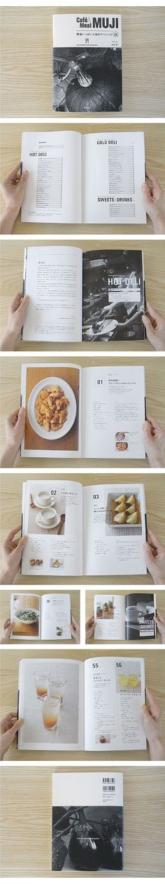 muji editorial layout - menu or recipe book usage