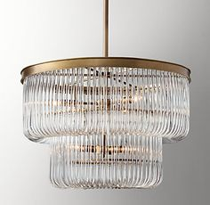 RH Baby & Child's Bettina Crystal Pendant - Antique Brass:Dramatic curved glass puts a Hollywood Regency–inspired twist on classic cut crystal and gives our Bettina pendant a taste of the luxury and glamour that made the style famous. Hollywood Regency, Restoration Hardware Teen, White Master Bathroom, Chandelier Bedroom, Teen Room Decor, Curved Glass, Room Interior Design, Window Coverings, Crystal Pendant