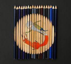 Pencil Art: using pencils as canvas