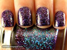 Tony Moly, Galaxy Collection. nails, glitter, polish, purple, lavender, teal