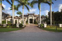 Exterior of luxury home in Boca Raton, Florida