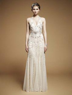 Vestido inspirado en los años 20 de Jenny Packham.