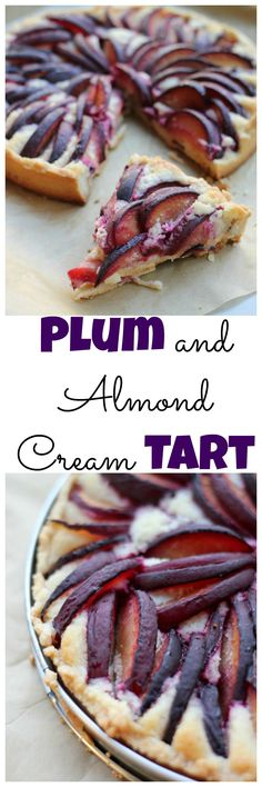 A stunning fruit tart filled with a rich almond cream and juicy plum filling.