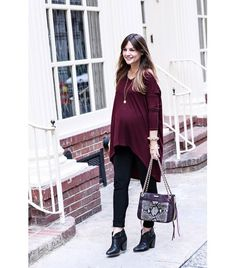 @Alexandra M What Wear - Wearing: Isabella Oliver Elerby Maternity Tunic ($58)  Image via: House of Harper