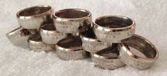 SILVER State Quarter Coin Rings Choose Your State by TCSCustoms $35