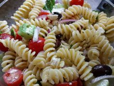 No-Mayo Pasta Salad Recipe with a Greek influence