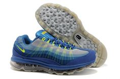 Men's Nike Air Max 95 360 Blue Grey Volt [Mens Nike Air Max 95 360-5759] - $68.99 : lebronxlows.net sale|LeBron X LOW|LeBron 9 Low|Lebron 8 Low and Hyperdunk low