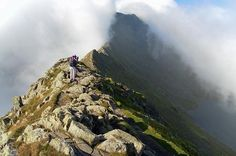 English Lake District. Striding Edge looking towrds Helvellyn. I've walked this, definitely scary in parts!