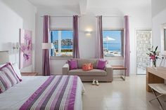 Tones of purple and comfort are the elements that make your stay in the Deluxe Suite of De.light Boutique Hotel so lovely. Just click on https://goo.gl/1sdrxf for more.   #Greece #mykonos #mykonosisland #greekislands #summer2017 #visitgreece #delighthotel