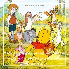 Coucou les collectioneurs Disney, aujourd'hui citation Disney de Winnie l'ourson : « Une journée sans ami est semblable à un pot qui ne contient pas une seule goutte de miel. » Winnie l'Ourson. Retrouvez d'autres citations sur mon blog. #disney #citationsdisney #quotesdisney #disneyquotes #disneycitations #citations #quotes #winnielourson #winnie #eeyore #tigger Citations Disney, Citations Film, Collection Disney, Hui, Comic Books, Comics, Blog, Honey, Disney Movie Quotes